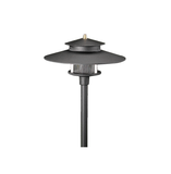 Vista Outdoor Lighting - PR-9206-B-2.5-W-T3 - 2 Tier Pagoda Path Light, Black, Warm - Vista Outdoor Lighting