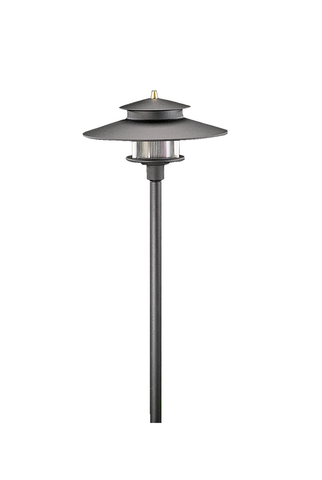 Vista Outdoor Lighting - PR-9207-B-2.5-W-T3 - tall 2 Tier Pagoda Light, Black, Warm - Vista Outdoor Lighting