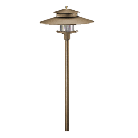 Vista Outdoor Lighting - PR-9207-Z-2.5-W-T3 - tall 2 Tier Pagoda Light, Architectural Bronze, Warm - Vista Outdoor Lighting