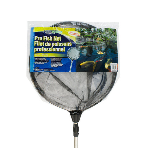 Aquascape - 98561 - Pro Fish Net Round with Black Soft Netting (w/ Extendable Handle) - Aquascape