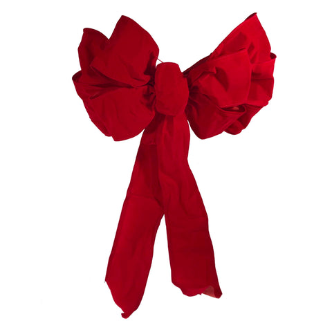 "Seasonal Source - 10"" x 18"" Red Velvet Deluxe Wired Bow, for Garland and 24"" or 36"" Wreaths"