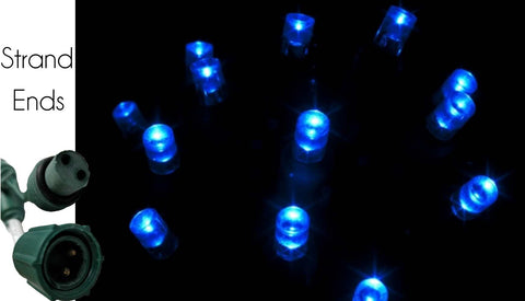 Reinders - C45311RY - Commercial Grade LED 5MM String Light, Blue, 4 Inch Spacing, 25 Bulbs - Reinders