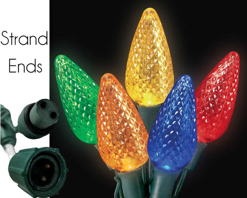 "Reinders - C85317RY - Commercial Grade C9 Light Strings, Multicolored, 12"" Spacing, 25 Bulbs - Reinders"