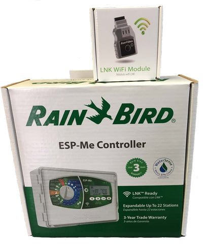 Rain Bird - ESP4MEI-LNKWIFI - 4 Zone Modular Indoor Controller Bundled with LNKWIFI Module - Rain Bird