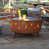 Patina Products - F100 Evening Sky Fire Pit, Natural Patina Rust Finish