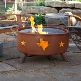 Patina Products - F102 Texas State & Stars, Natural Patina Rust Finish