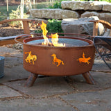Patina Products - F104 Western Fire Pit, Natural Patina Rust Finish