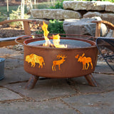 Patina Products - F106 Wildlife Fire Pit, Natural Patina Rust Finish