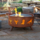 Patina Products - F109 Western Cowboy Fire Pit, Natural Patina Rust Finish