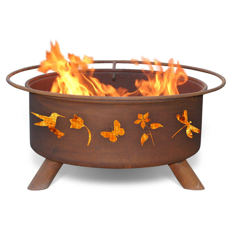 Patina Products - F110 Flower & Garden Fire Pit, Natural Patina Rust Finish