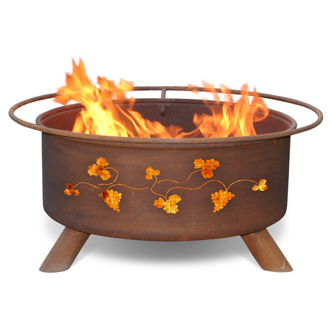 Patina Products - F111 Grapevines Fire Pit, Natural Patina Rust Finish
