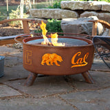 Patina Products - F210 University of California Berkeley, Cal Bears Fire Pit, Natural Patina Rust Finish