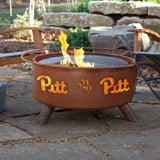 Patina Products - F228 University of Pittsburgh Fire Pit, Pitt Panthers, Natural Patina Rust Finish