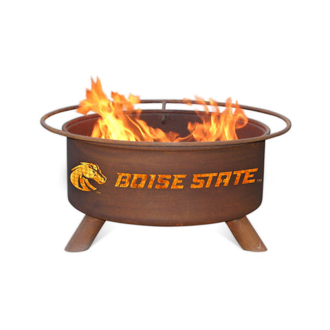 Patina Products - F234 Boise State University, Boise State Broncos Fire Pit, Natural Patina Rust Finish