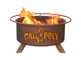 Patina Products - F235 Cal Poly San Luis Obispo, Cal Poly Mustangs Fire Pit, Natural Patina Rust Finish - Patina Products