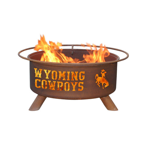 Patina Products - F236 University of Wyoming, Wyoming Cowboys Fire Pit, Natural Patina Rust Finish