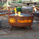 Patina Products - F240 Pennsylvania State University Fire Pit, Penn State Nittany Lions Fire Pit, Natural Patina Rust Finish