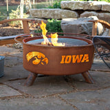Patina Products - F241 University of Iowa, Iowa Hawkeyes Fire Pit, Natural Patina Rust Finish