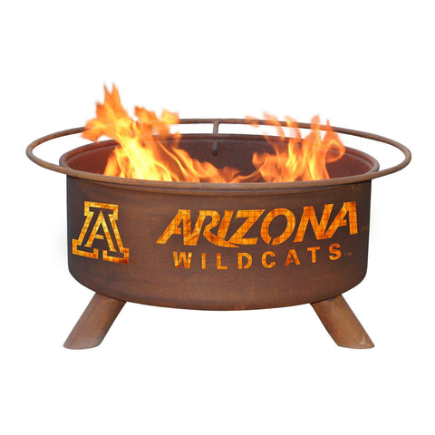 Patina Products - F401 University of Arizona Fire Pit, Arizona Wildcats, Natural Patina Rust Finish