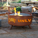 Patina Products - F402 UNLV Fire Pit, University of Nevada Las Vegas Rebels, Natural Patina Rust Finish