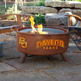 Patina Products - F461 Baylor University Fire Pit, Natural Patina Rust Finish