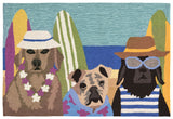 "Liora Manne - FTP12158644 - Frontporch Beach Patrol Indoor/Outdoor Rug Multi 20""X30"" - Liora Manne"