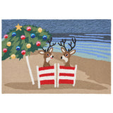 "Liora Manne - FTP12185444 - Frontporch Coastal Christmas Indoor/Outdoor Rug Multi 20""X30"" - Liora Manne"