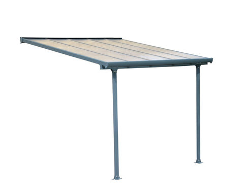 Palram - HG9410 Feria Patio Cover 10' x 10' Gray - Poly-Tex