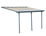 Palram - HG9414 - Feria Patio Cover 10' x 14' Gray - Poly-Tex