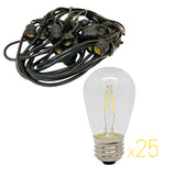 Prime Patio - KIT-24L-24WW - 48 ft Patio Light Kit with 24 Warm White Bulbs