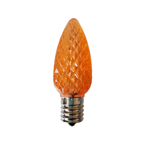 Seasonal Source - LED-C9-ORG-SMDSMT - C9 LED SMD Full Faceted  Professional Grade Bulbs, Orange, Box of 25