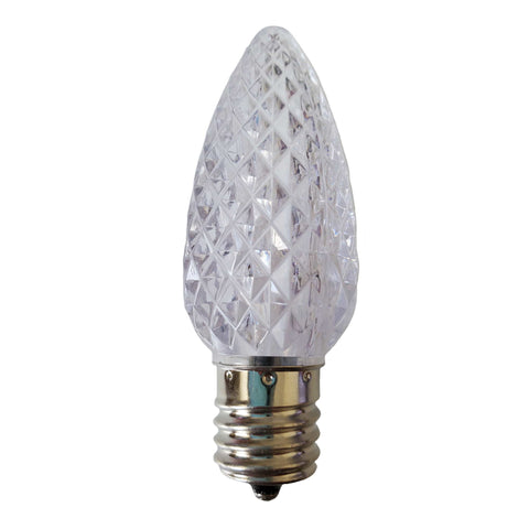 Box of 25 C9 Led Replacement Bulbs,3 SMD LEDs in Each Lights Bulb,Sun Warm White