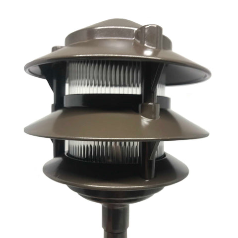Vista Outdoor Lighting - PR-6222-DZ-W-LB5ND - Dark Bronze 12-Volt LED Aluminum 3 Tier Path Light