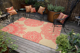"Liora Manne - TER23102517 - Terrace Crochet Indoor/Outdoor Rug Orange 23""X35"""