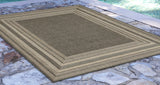 "Liora Manne - TER23276167 - Terrace Etched Border Indoor/Outdoor Rug Grey 23""X35"" - Liora Manne"