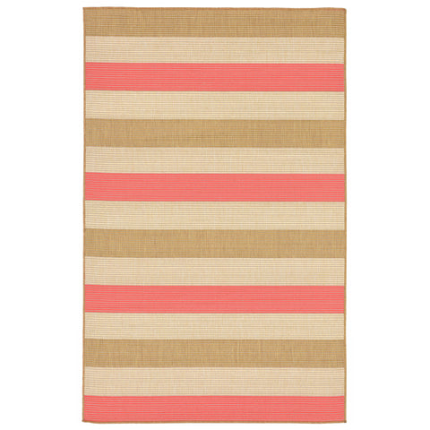"Liora Manne - TER23276274 - Terrace Multi Stripe Indoor/Outdoor Rug Orange 23""X35"" - Liora Manne"
