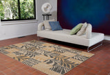 "Liora Manne - TER23277382 - Terrace Box Leaves Indoor/Outdoor Rug Grey 23""X35"" - Liora Manne"