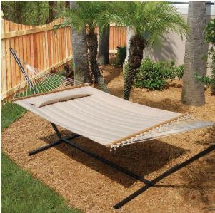Smart Living Home and Garden - 52325-DTP - Monte Carlo Premium Double Hammock - Taupe
