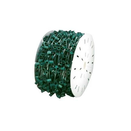 "Seasonal Source - C9-1000-12-G - C9 Light Spool, 1000' Length, 12"" Spacing, Green Wire"