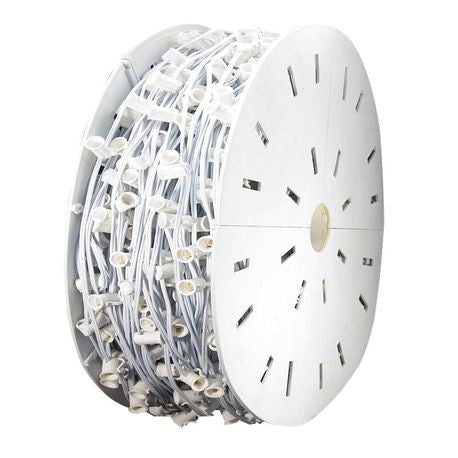 "C9 Light Spool, 1000' Length, 12"" Spacing, White Wire"