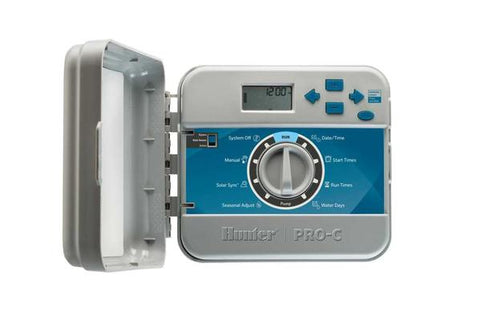 Hunter Industries - PCC-600I - Pro C - Indoor Controller with Plug in Transformer, Fixed 6-Station - Hunter Industries