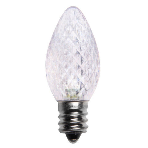 Seasonal Source - LED-C7-CT - C7 LED Professional Grade Replacement Bulb, Cool White Twinkle, 120V, Box of 25 - Seasonal Source