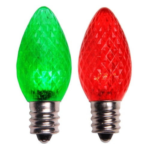 C7 LED Replacement Lamp, Red and Green Color Change, Box of 25 - Seasonal Source