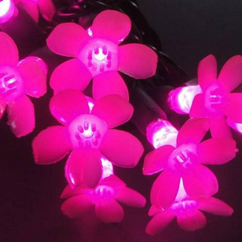 Reinders - 144361R-25 - Cherry Blossom LED String Lights, Pink - Reinders