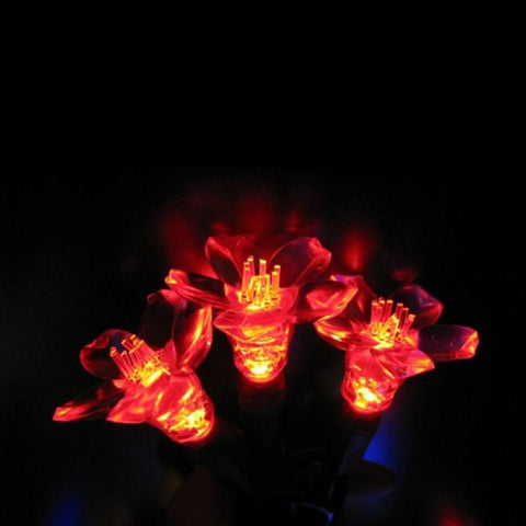 Reinders - 144302R-25 - Cherry Blossom LED String Lights, Red - Reinders
