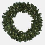 "Seasonal Source - LEDWREATH-60-H - High Quality Oregon Fir LED Pre-Lit Wreath, Warm White, 60"", 200 Bulbs - Seasonal Source"