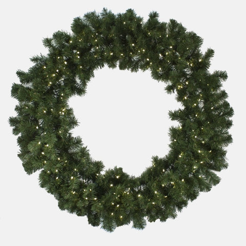 "Seasonal Source - LEDWREATH-36-H - High Quality Oregon Fir Pre-Lit Wreath with 5MM LED Lights, Warm White, 36"", 100 Bulbs - Seasonal Source"