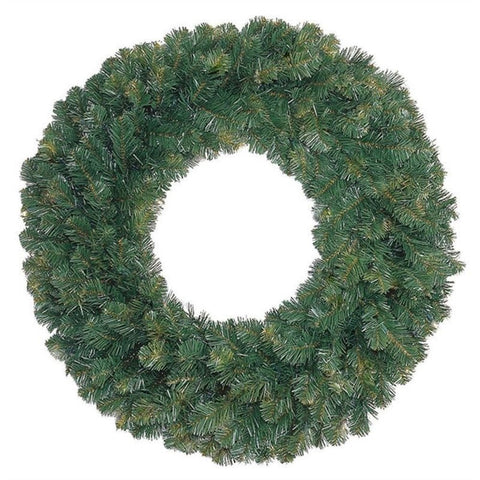 "Seasonal Source - High Quality Oregon Fir Wreath, Unlit, 48"" -  - Holiday Lighting  - Yard Outlet"