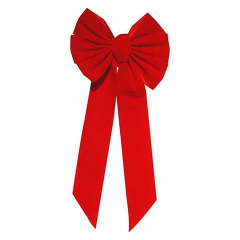 Large Red Bow use with 48 or 60 Inch Wreaths - Seasonal Source