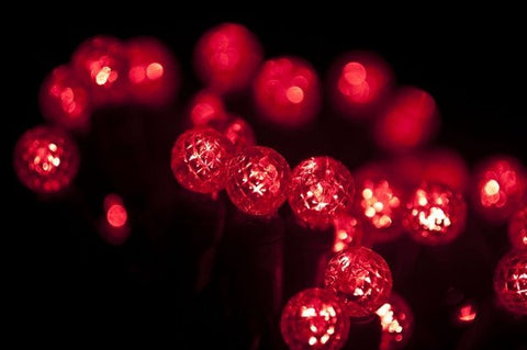 "LED G12 Professional Grade String Lights, Red, 4"" Spacing, 70 Bulbs - Seasonal Source"